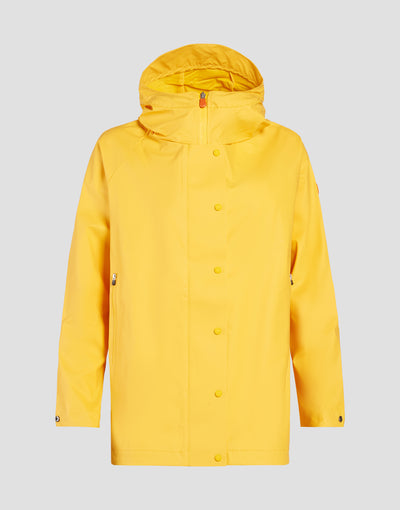 Save The Duck Womens Coat-S4429W-RAIN6-01057 Aurora Yellow