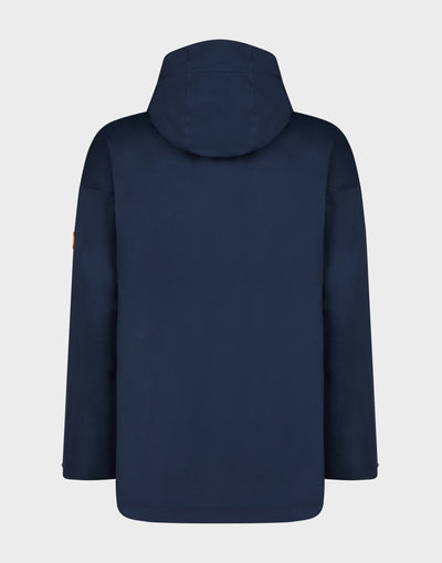 Womens BARK Hooded Coat in Navy Blue