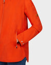 Womens BARK Hooded Coat in Tangerine Orange
