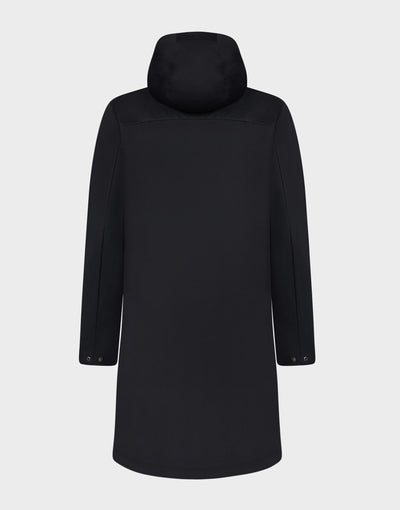 Womens BARK Hooded Coat in Black