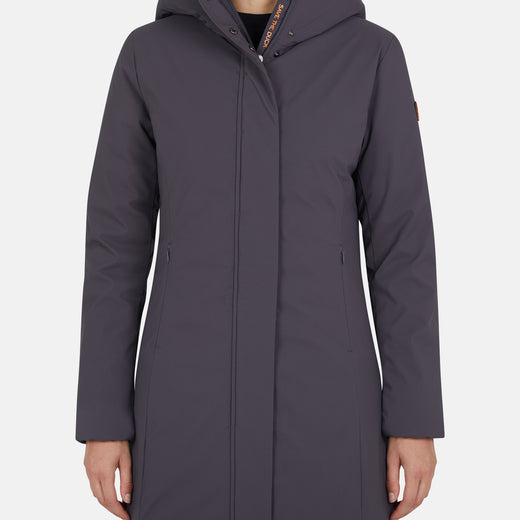 Womens Urban Style Hooded Coat in MATT