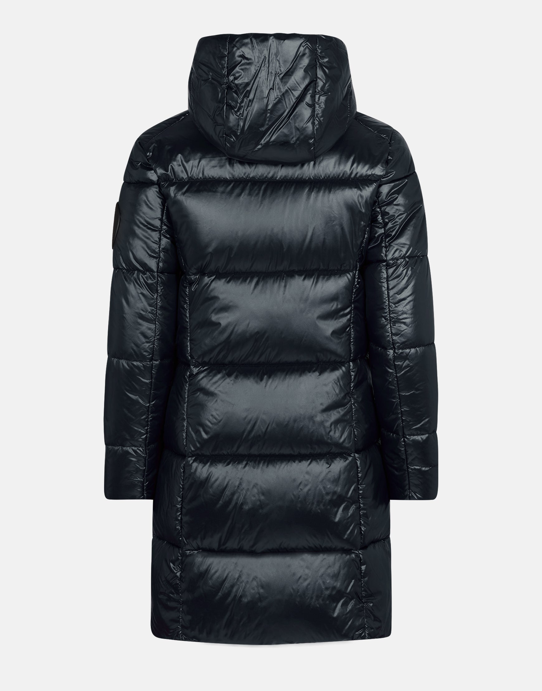 info for 73bdb 5dbeb Save The Duck Women's LUCK Maxi-Quilted Hooded Coat
