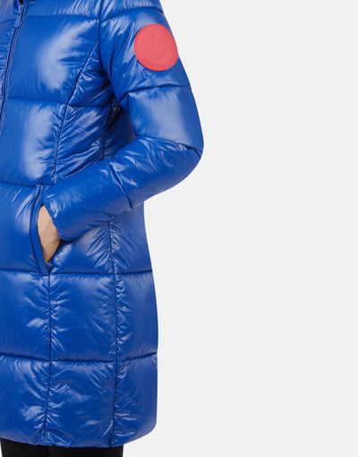 Save The Duck Women's LUCK Maxi-Quilted Hooded Coat