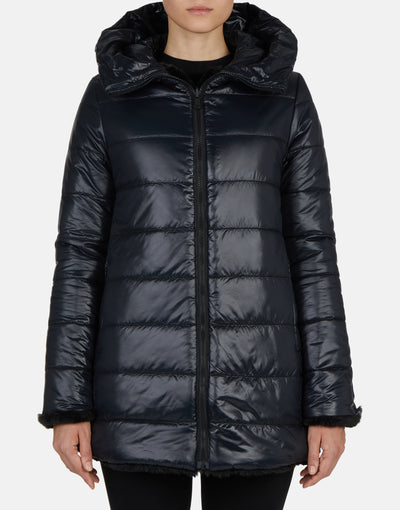 Save The Duck Women's FURY Reversible Hooded Coat