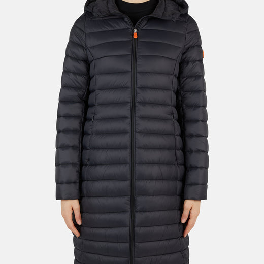 Womens Hooded Quilted Coat in GIGA