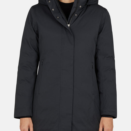 Womens Hooded Coat in TWON with Detachable Hood