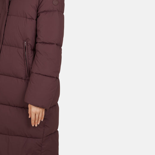Womens Hooded Long Quilted Coats in SOFY