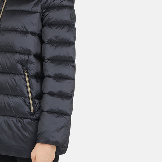 Womens Hooded Puffer Coat in IRIS
