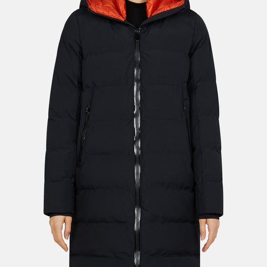 Womens Hooded Water Resistant Coat in EVER