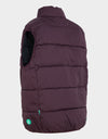 MENS WARM VEST IN Burgundy Black