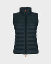 Womens GIGA Vest in Green Black