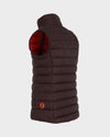 Women's GIGA Vest in Burgundy Black