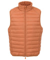 Mens Lightweight Puffer Vest in Apricot Orange
