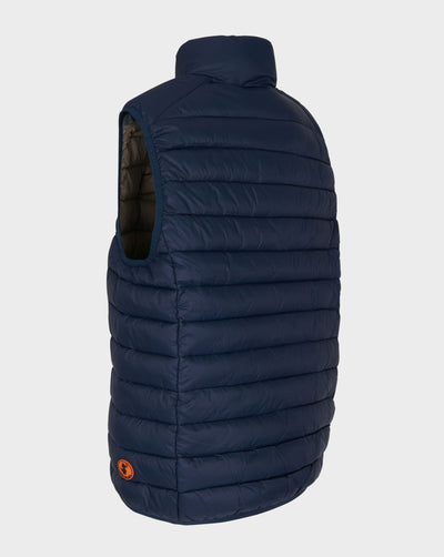 Mens GIGA Quilted Vest in Navy Blue