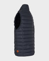 Mens GIGA Quilted Vest in Grey Black