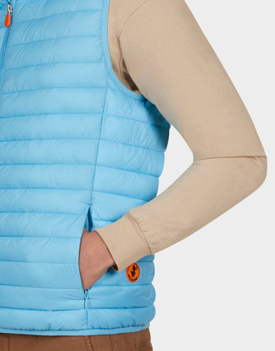 Mens GIGA Vest in Ethereal Blue