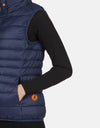Save The Duck Women's GIGA Stand Collar Vest