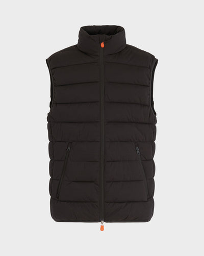 Men's Angy Vest in Brown Black