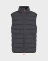 Men's Angy Vest in Charcoal Grey Melange