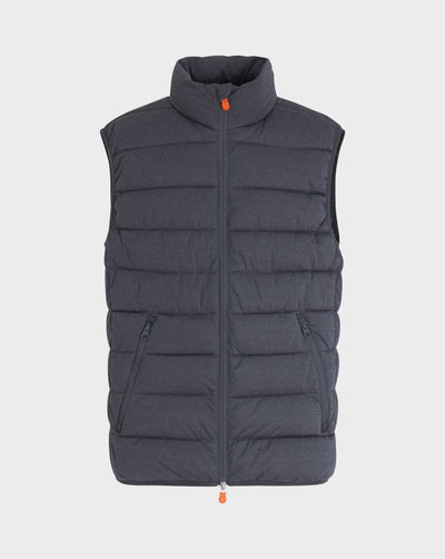 Men's Angy Vest in Grey Black
