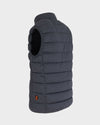 Mens Angy Vest in Grey Black