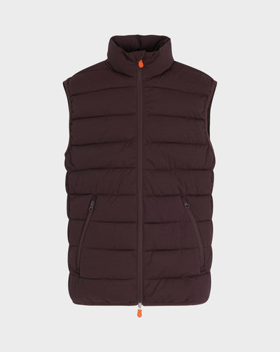 Men's Angy Vest in Burgundy Black