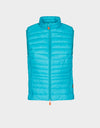 Womens GIGA Puffer Vest in Waterfall Green
