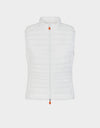 Womens GIGA Puffer Vest in Coconut White