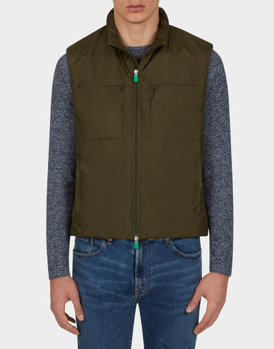 Mens RECY Vest in Dusty Olive
