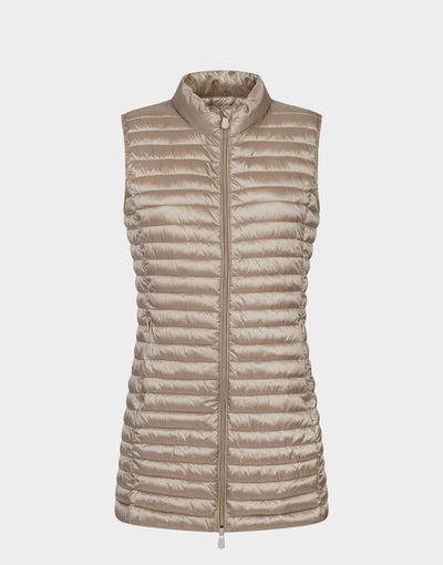 Womens IRIS Vest in Pearl Grey
