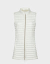 Womens IRIS Vest in Coconut White