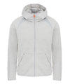 Men's Hooded Sweatshirt in Light Grey Melange