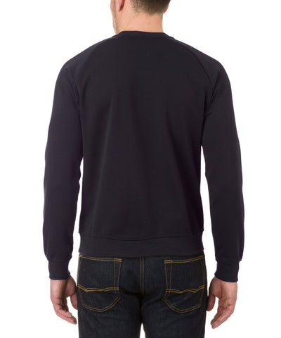 Mens Sweatshirt in Blue Black