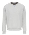 Mens Sweatshirt in Light Grey Melange