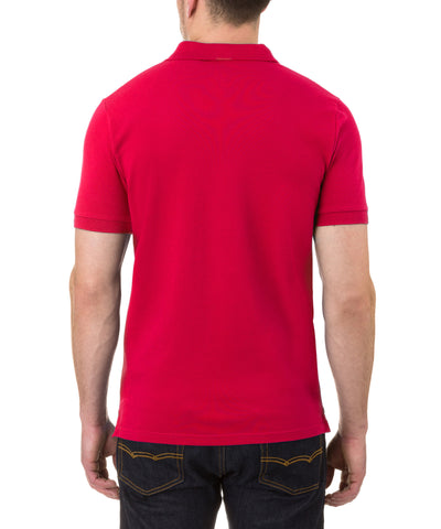 Men's Polo in Tomato Red