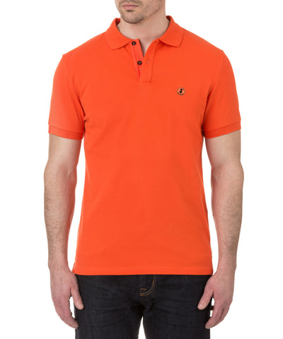 Men's Polo in Spicy Orange