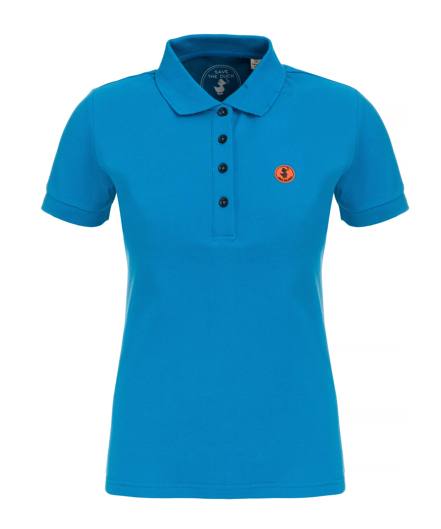 Save The Duck Women S Polo In Ocean Blue Save The Duck