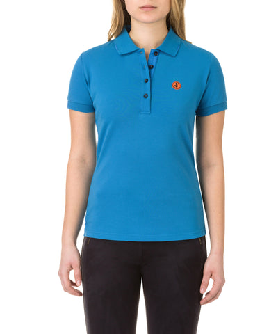 Womens Polo in Ocean Blue