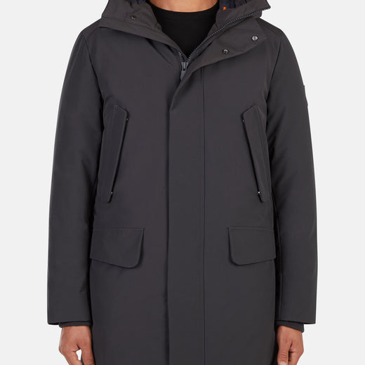 Mens Hooded Winter Parka Coat in COPY