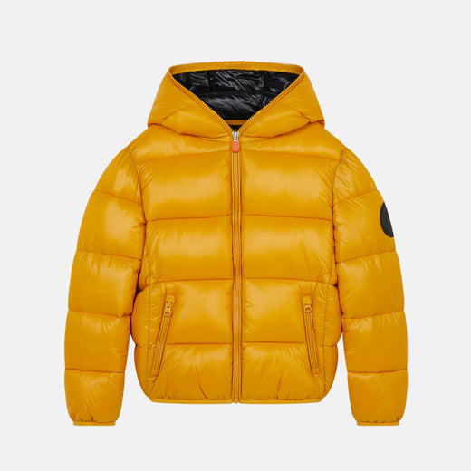 Oversized Boy's LUCK Hooded Puffer Jacket