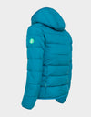 Girls RECY Hooded Jacket in Atlantic Blue