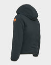 Boys MATT Reversible Hooded Jacket in Black