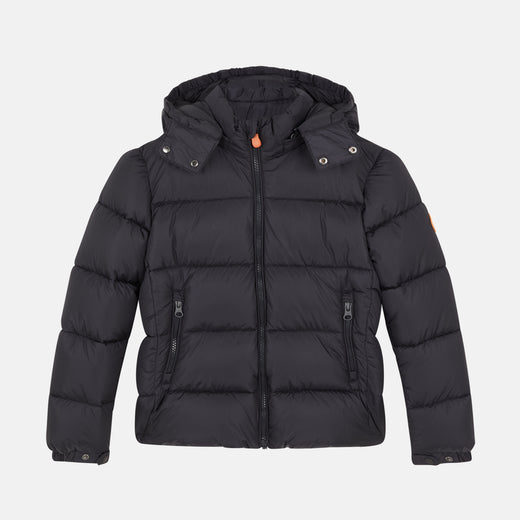 Eighties-Inspired Boy's MEGA Hooded Puffer Jacket with Detachable Hood