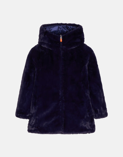 Save The Duck Girl's FURY Reversible Faux Fur Hooded Coat
