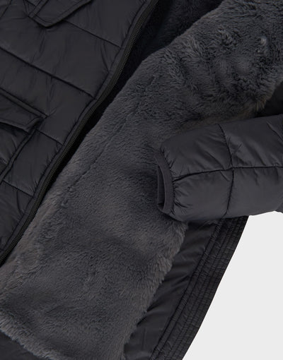 Girls GIGA Parka Winter Coat in Black