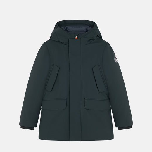 Boys Hooded Parka in SMEG