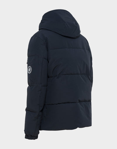 MENS COPY WINTER HOODED PARKA IN Grey Black