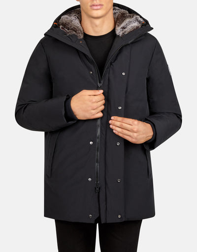 Save The Duck Men's COPY WINTER Hooded Parka with Faux Fur Lining