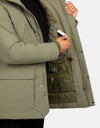 Save The Duck Men's SMEG Winter Parka with Detachable Faux Fur Trim Hood