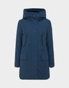 Womens COPY Hooded Parka in Navy Blue